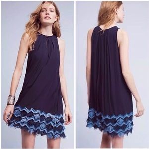 Anthropologie Maeve Festivity Fringe Dress